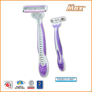 Triple Blade Stainless Steel Blade Disposable Shaving Ra0zor (LV-3087) pictures & photos