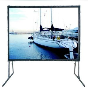 180 Inch Fast Folding Screen / Quick Break / Easy to Carry with Flight Case