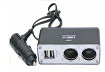 3 Way 12V Car Socket with LED Car Cigarette Lighter Socket Car Adapter Plug pictures & photos