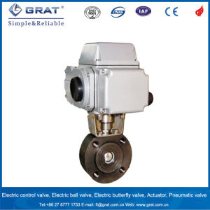 Grat Short Pattern Electric Control Ball Valve pictures & photos