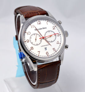 2016 Customzied Logo Waterproof Genuine Leather Watch pictures & photos