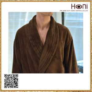 D-021 Customized Solid Velour Men Bathrobe pictures & photos