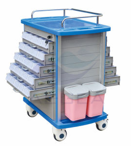 AG-Mt011A1 Medicine Double Side Medical Trolley Cart pictures & photos