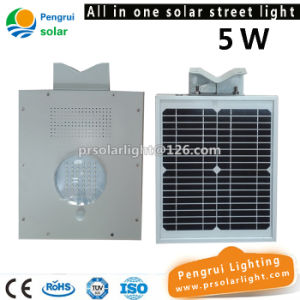 Outdoor Wall Garden Integrated LED Solar Street Light with Battery Solar Panel pictures & photos