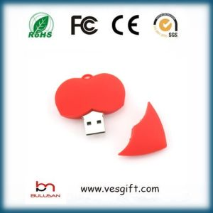 8GB Cute Custom PVC USB Drive Heart Pendrive pictures & photos