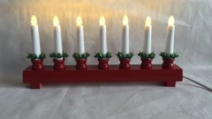 Red or White Bridge Candle LED Lighting Christmas Decoration pictures & photos