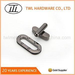 Long Handle Oval Metal Handbags Twist Lock Metal Turn Lock pictures & photos