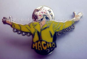 Hard Enamel Silver Plated Macho Pin (MJ-PIN-046) pictures & photos