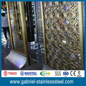 Interior Decorative 201 Stainless Steel Room Divider pictures & photos