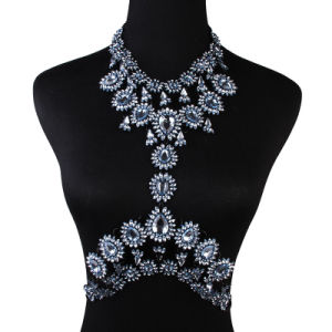 Fashion Designer Colorful Rhinestone Crystal Diamond Flower Choker Body Jewelry pictures & photos