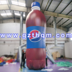 PVC HD Inkjet Advertising Inflatable Bottle with Customized Logo pictures & photos