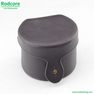 Hand Made Genuine Leather Fly Reel Box pictures & photos