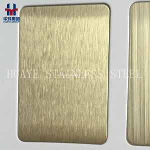 PVD Gold Rose Gold Stainless Steel Colored Sheet Metal Plate for Decoration pictures & photos