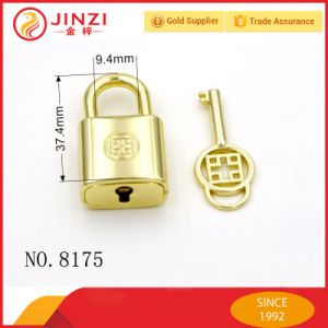 Handbag Luxury Metal Gold Decorative Pad Lock with Key pictures & photos