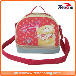 Customized Wholesale Printed Lunch Bags with Adjustable Shoulder Strap pictures & photos
