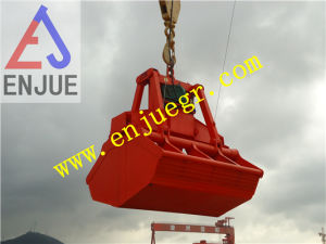 Electric-Hydraulic Wireless Remote Control Clamshell Grab Bucket for Bulk Cargo Material pictures & photos