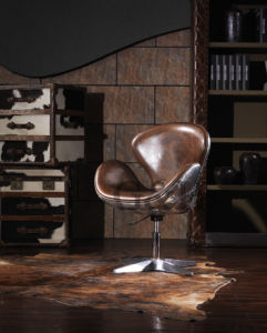 Swan Chair in Vintage Leather Gh620A pictures & photos