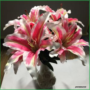 Artificial Flowers Fake Flowers Pink Lily for Home Wedding Decoration Wholesalers pictures & photos