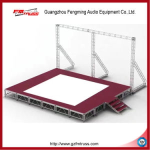 Aluminum Portable Stage with Adjustable Height and Mobile Folding Platform with Anti-Slip Surface pictures & photos