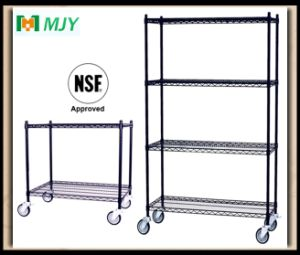 Black Powder Coating Approved Wire Shelving pictures & photos