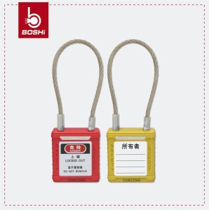 Stainless Steel Wire Shackle Safety Padlock (BD-G41) pictures & photos