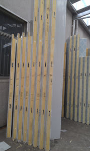 Grey White PU Sandwich Panel with Ce pictures & photos