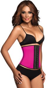 Women′s Latex Waist Trainer Cincher Corset with Rubber Pressed Hooks pictures & photos