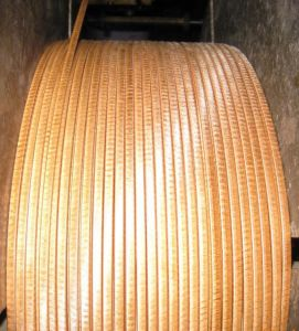 Autohension Fiber-Glass Wrapping Mica Tape Covered Rectangular Copper Wire.