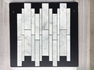 Natural Retangular White Marble Wall Mosaic pictures & photos