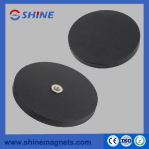 D66mm M8 Thread Hole Permanent Round Base Neodymium Magnet pictures & photos