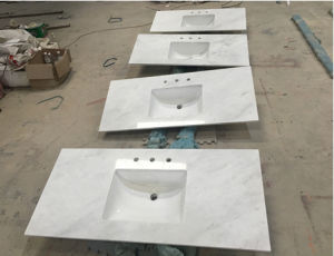 Hot Sale White Marble Kitchen Countertop Outlet pictures & photos
