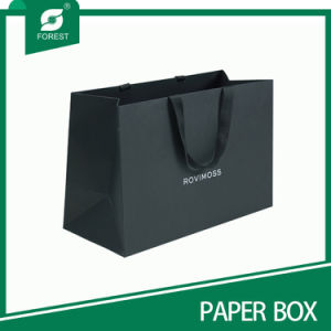 Black Paper Bag with Logo Printing Wholesale pictures & photos