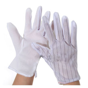 ESD Dotted Glove (ZK148) , Cleanroom Antistatic ESD Dotted Work Gloves pictures & photos