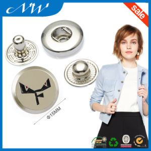 Nickel Color Custom Metal Snap Buttons Custom Logo pictures & photos