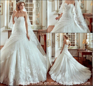 Sweetheart Bridal Gowns Puffy Tulle Lace Custom Wedding Dresses Y1011 pictures & photos