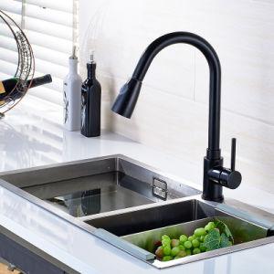 Flg Contemporary Single Handle Kitchen Sink Black Painting Tap/Faucet pictures & photos