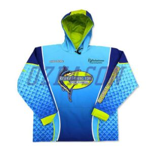 Factory Custom Made Performance UV Cut Polyester Fishing T Shirt (F013) pictures & photos