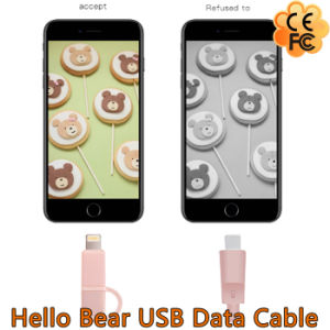 New Hello Bear 2 in 1 USB Data Cable for iPhone/Android pictures & photos