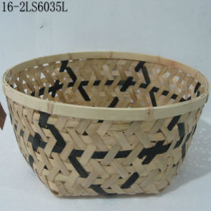 S/2 or S/3 Antique of Mixed Coloor of Rattan Baskets pictures & photos
