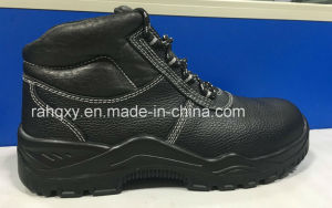 Leather Lining Safety Shoes (HQ16019) pictures & photos