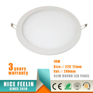 Die Casting Aluminum Round Slim 18W LED Panel for Ceiling Light pictures & photos