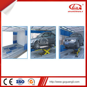 Guangli Manufacturer Auto Hydraulic Double Cylinder Scissor Car Lift 380V/220V pictures & photos