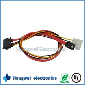 Male to Female SATA 7+15p to 4p Power Plug and SATA 7p Cable pictures & photos