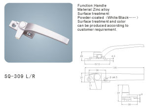 Zinc Alloy Handle for Windows/Doors (SQ-309 L/R) pictures & photos