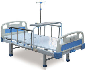 Powder Coated Single Crank Hospital Bed