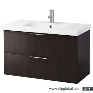 High Gloss Coffee Color Lacquer Painting Vanity Cabinet pictures & photos