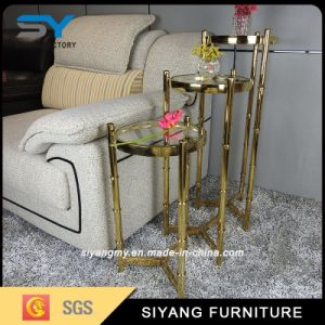 Hotel Furniture Glass Flower Stand with Three-Piece pictures & photos