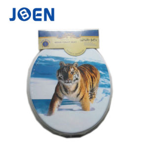 Tiger Hot Printing MDF Mold Wood Toilet Seat Cover with Printing pictures & photos