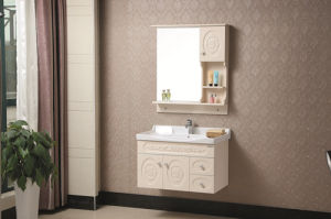 Wall-Mounted Modern Style Solid Wood Bathroom Vanity pictures & photos