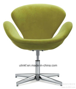 Metal Base Lift Swivel Fabric Bar Stools Bar Furniture (UL-LE003) pictures & photos